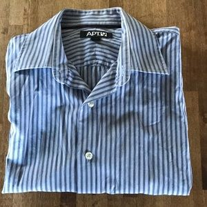 APT 9 Men's Button Down Shirt Blue Medium